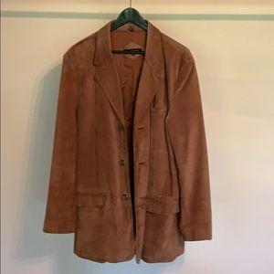 Suede 3 button suit jacket Jones New York 42L
